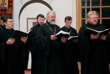 Выступление хора духовенства Гродненской епархии в Истре